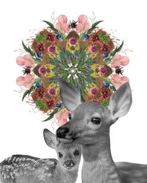 Cord Cutting Mandala and Deer